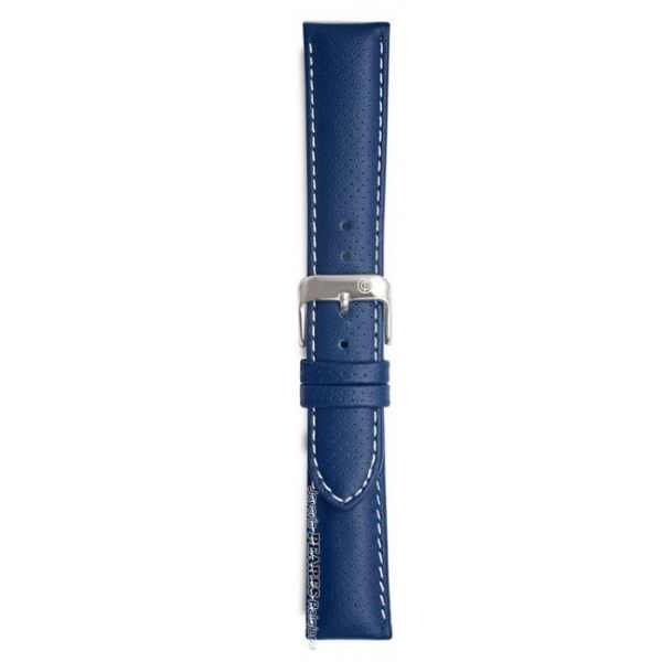 Malla para relojes de cuero azul
