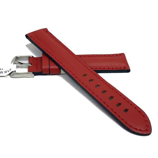 Malla de cuero rojo para relojes de Alta Gama